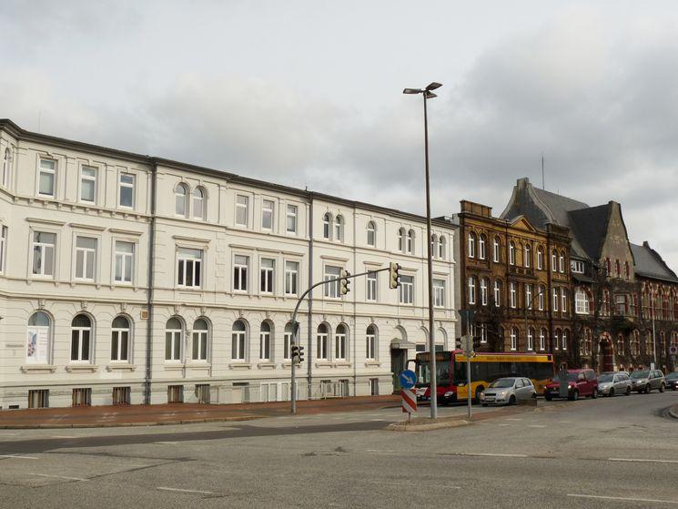 Südfassade ehemaliges Bahnhofshotel und Bollhardt'sches Gebäude