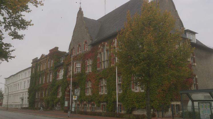 Südfassade historisches Landratsamt bewachsen - Blick Richtung Westen
