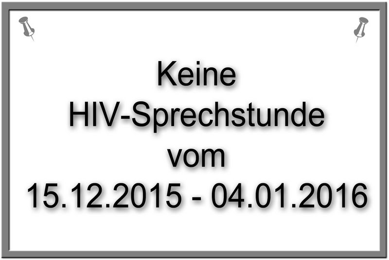 HIV-Sprechstunde fällt aus - Meldungen | Kreis Steinburg
