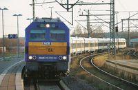 Bild eines einfahrenden NOB-Zuges