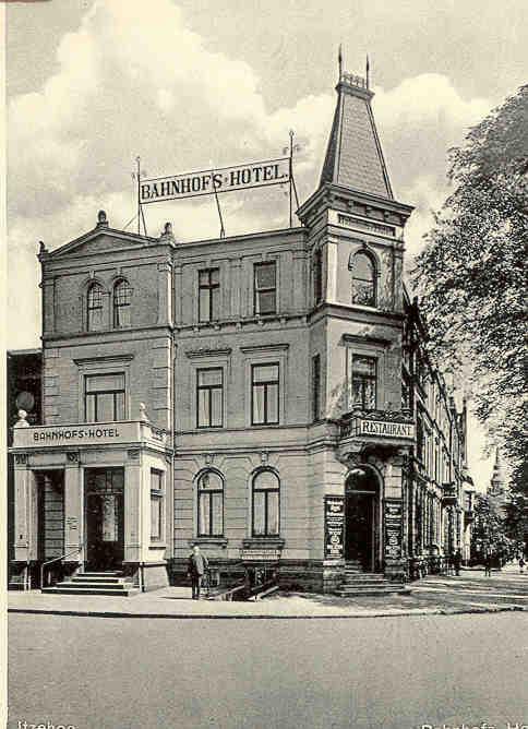 ehemaliges Bahnhofshotel um 1930